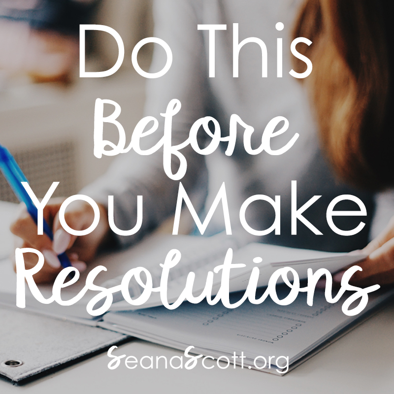 Steps to make resolutions